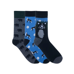Bears & Wolf Dress Socks