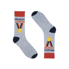 Breakfast Champion Dress Socks