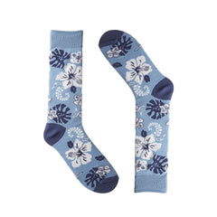 Hawaiian Flowers Light Blue