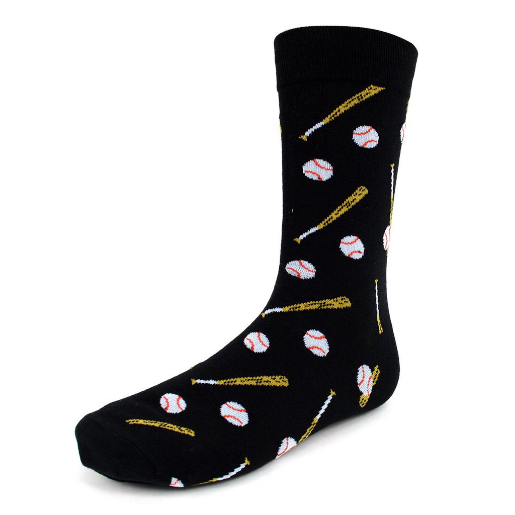 Baseball Black Dress Socks