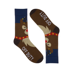 Christmas Rudolph Dress Socks