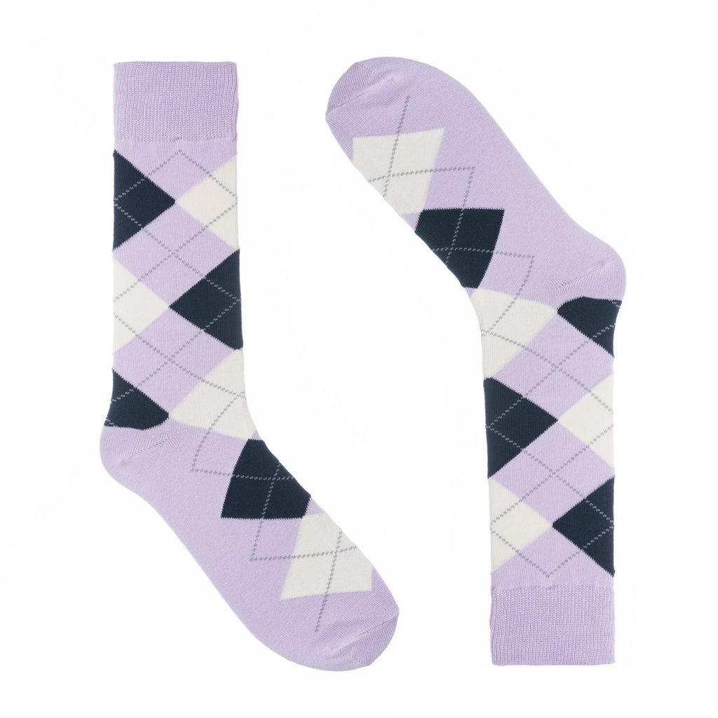 Lavender Argyle Dress Socks