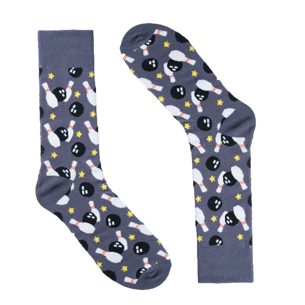 Bowling Grey Dress Socks