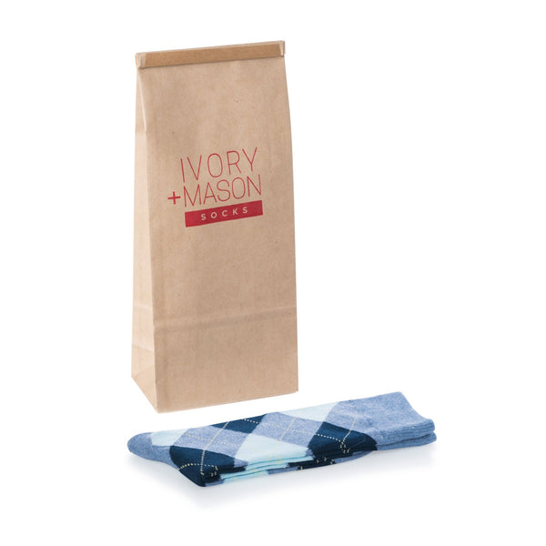 Baby Blue Argyle Dress Sock