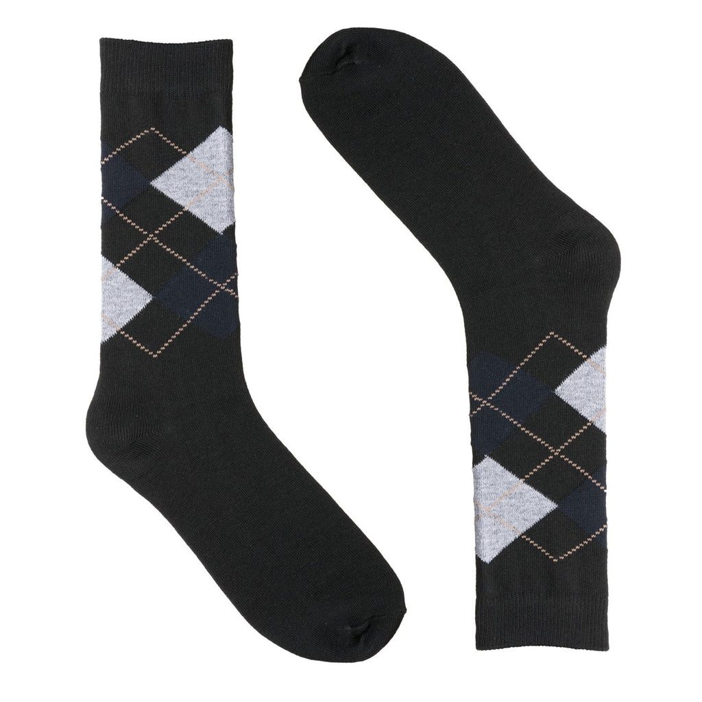Black Argyle Dress Socks