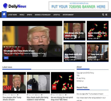 Daily News Blogging Site