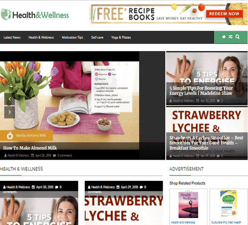 Health & Wellness Blogging Site
