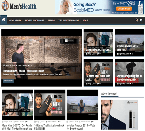 Men's Health Blogging Site