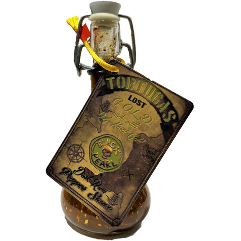Tortuga's Lost Gold Dark Rum Pepper Hot Sauce