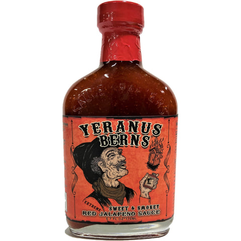 Yeranus Berns Sweet & Smokey Red Jalapeno Hot Sauce - EXTREME