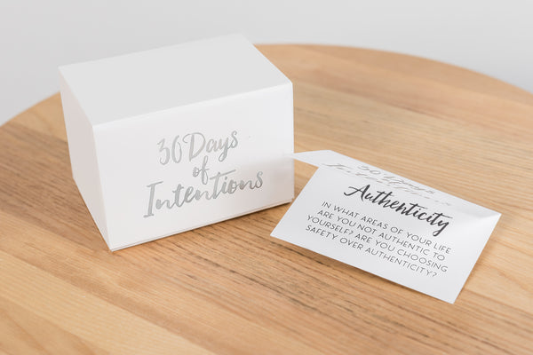 30 Days of Intentions Glass Jar