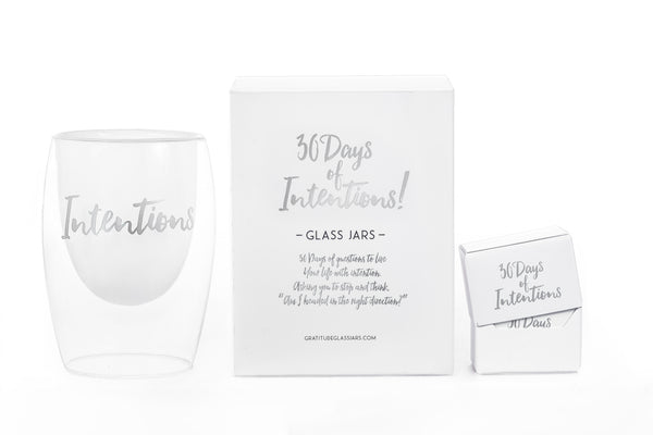 NEW! 30 Days of Intentions Glass Jar
