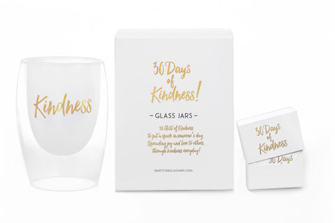 NEW! 30 Days of Kindness Glass Jar
