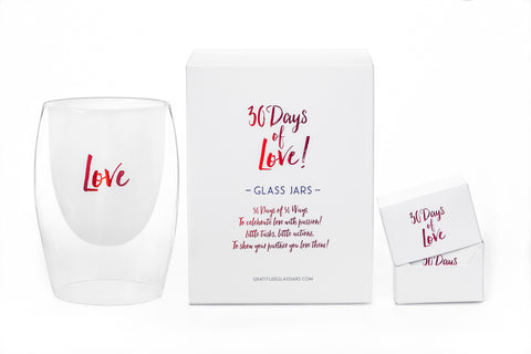 NEW! 30 Days of Love Glass Jar