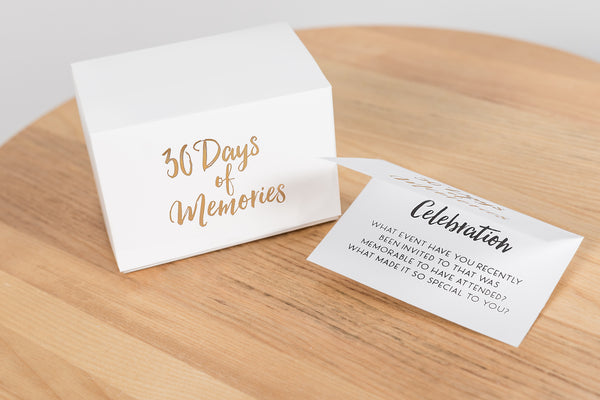 30 Days of Memories Glass Jar