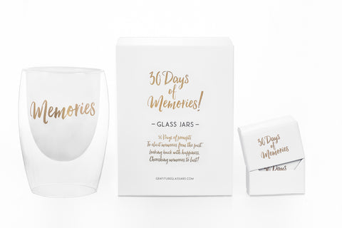 NEW! 30 Days of Memories Glass Jar
