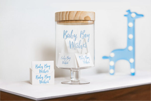 Baby Boy Wishes Glass Jar