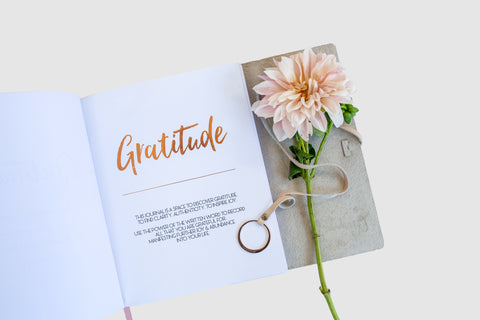 Gratitude Leather Bound Journal