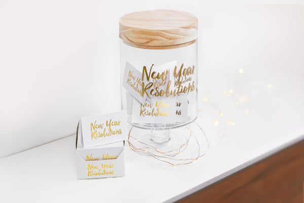 New Year Resolution's Glass Jar