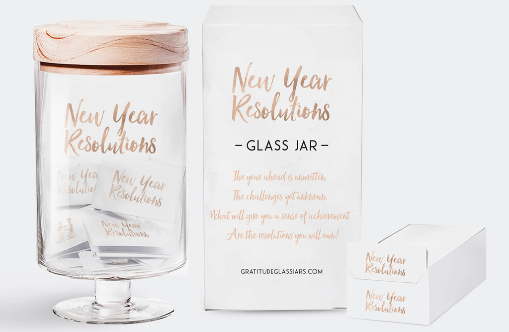 New Year's Resolution Glass Jar