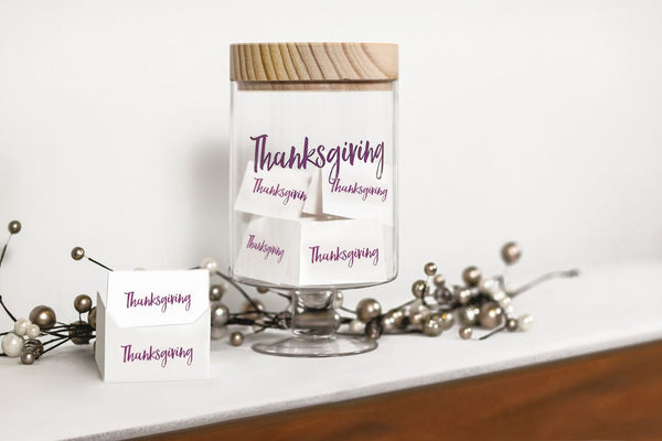 Thanksgiving Wishes Glass Jar