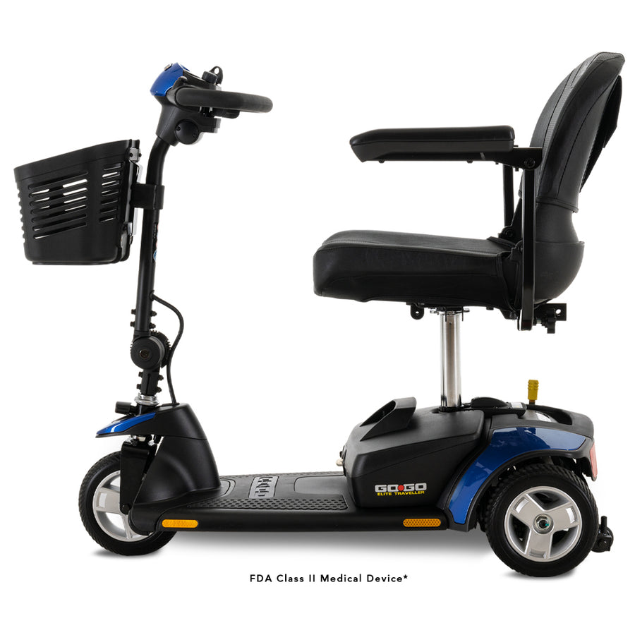 Pride Mobility Go Go Elite Traveller 3-Wheel Power Mobility Scooter ~ New with Warranty!