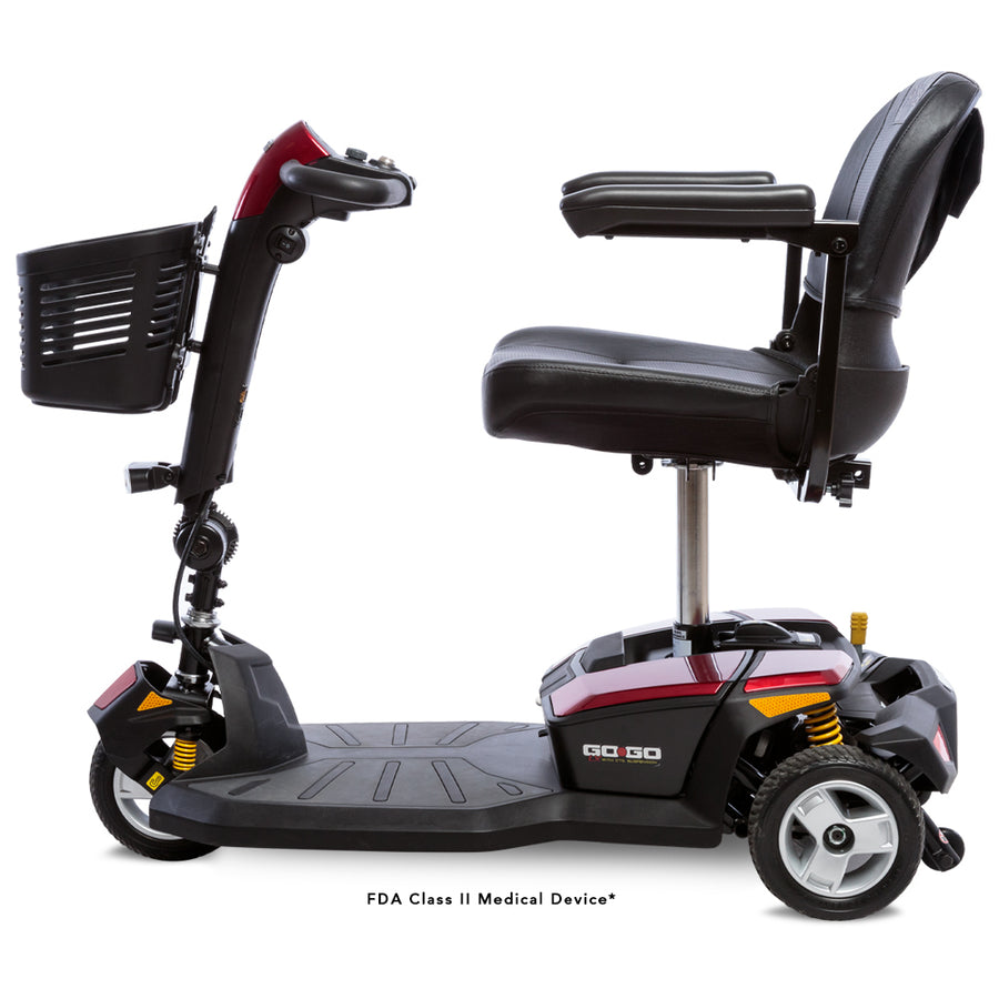 Pride Mobility Go Go LX with CTS Suspension 3-Wheel Scooter ~ New with Warranty!