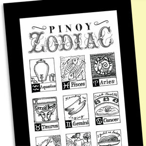 Pinoy Zodiac Framed Broadsides