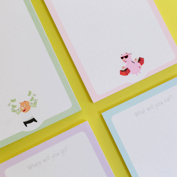 Piggy Notepads (set of 4)