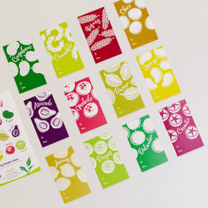Philippine Fruits Gift Tags (set of 12)