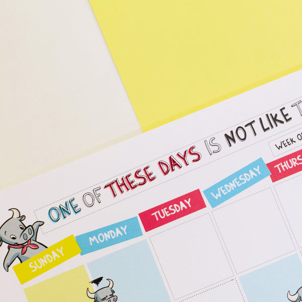 Quote ang Quote: One of These Days Weekly Planner