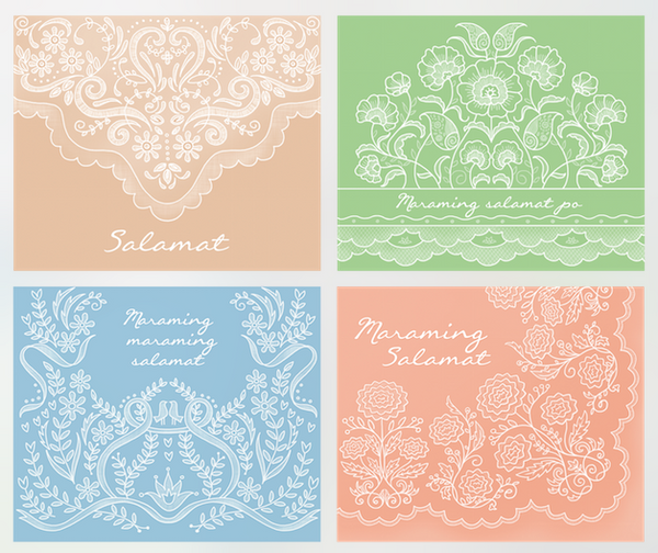 Salamat Greeting Cards (set of 4)