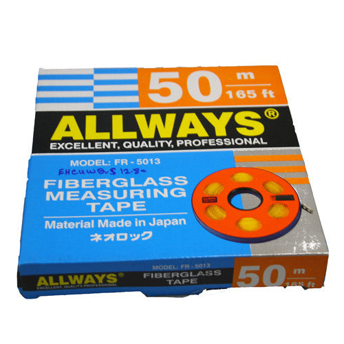 50m 165ft Fiberglass Measuring Tape
