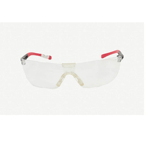 Safety Eye Glass Wear Clear & Red Sides
