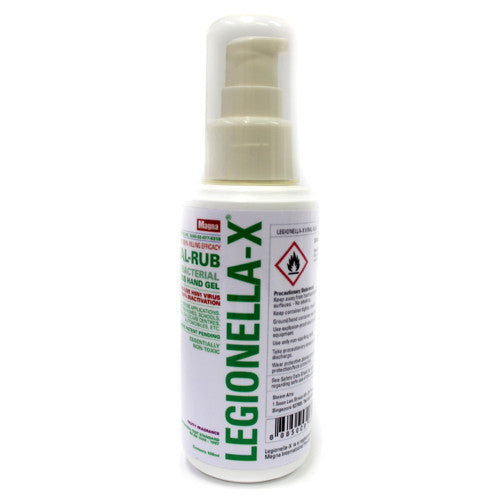 Legionella-X Viral-Rub Waterless Hand Gel 100ML
