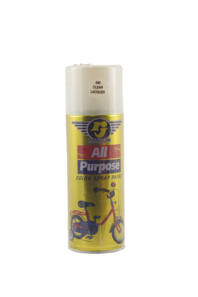 RJ London All Purpose Colour Spray Paint (540 Clear Lacquer)
