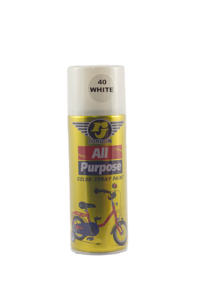 RJ London All Purpose Colour Spray Paint (40 White)