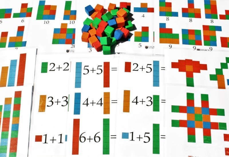colorful math counting blocks for home school kids