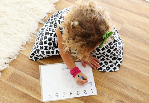ABC and Number Tracing Activity Mats
