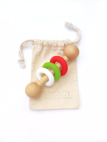 Magic Rattle - Christmas - Red, White, and Green