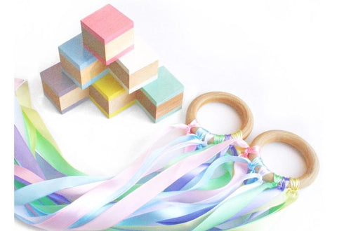 Blocks & Hand Kite Gift Set - Pastel
