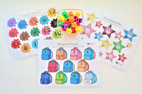 Cube Counting Activity Set