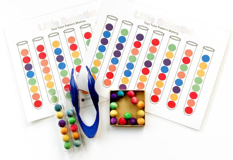 rainbow color sorting number early scientist learning project for kids
