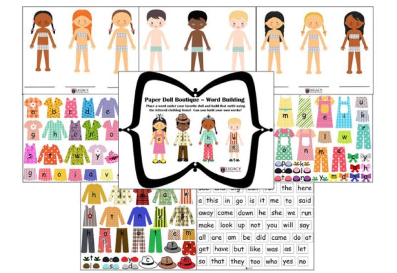 Paper Doll Boutique - Sight Words