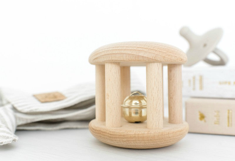 Wooden Bell Roller Cylinder Toy