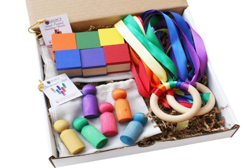 Rainbow Montessori Gift Set