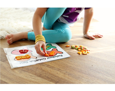 Rainbow Goldfish Snack Mat