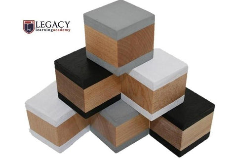 Wooden Building Blocks - Monochrome - Set of 6