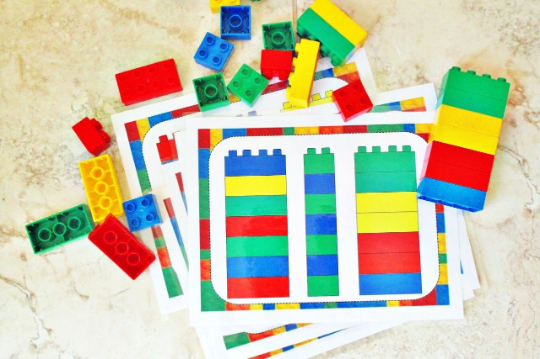 colorful block sorting sets for duplo blocks