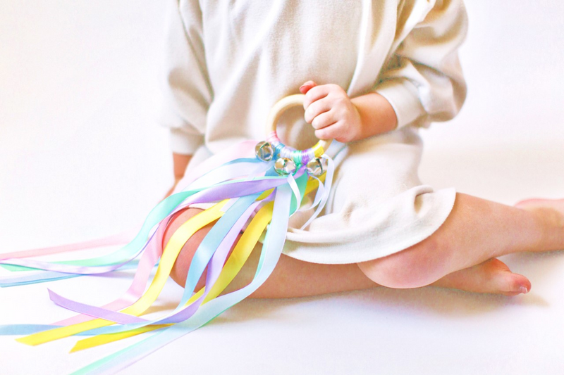 little girl dress up pretend play rainbow unicorn hand kite waldorf toys by legacy learning